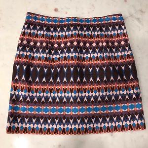 J Crew Geometric Print Mini Skirt